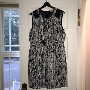 Whistles Navy Print Dress